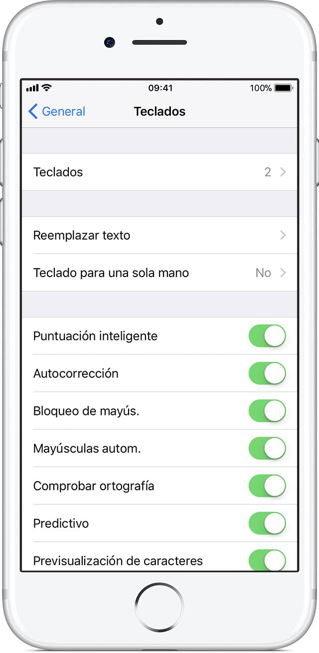 Acerca de la configuración de los teclados en el iPhone, iPad y ...