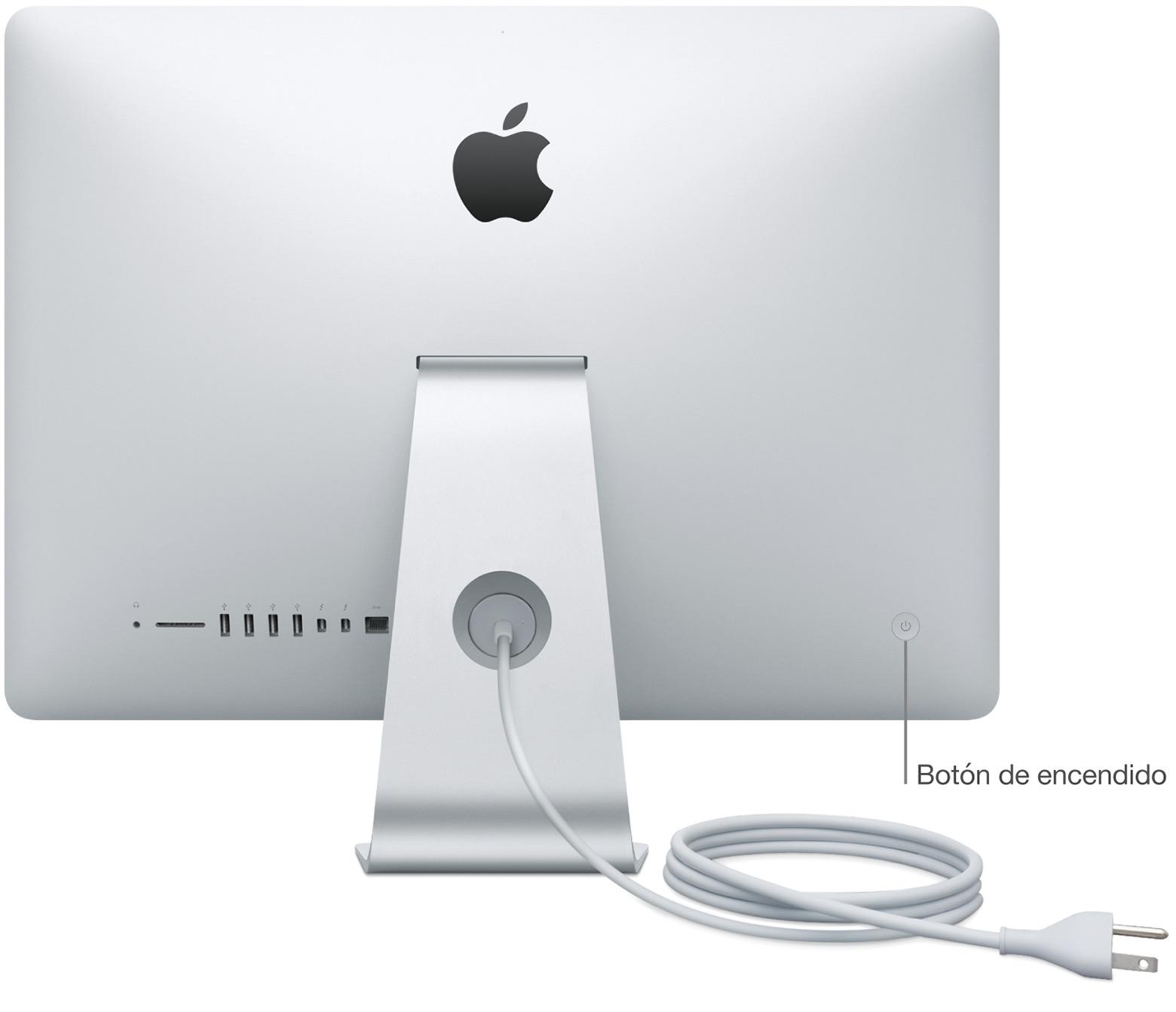 Botón de encendido de la iMac