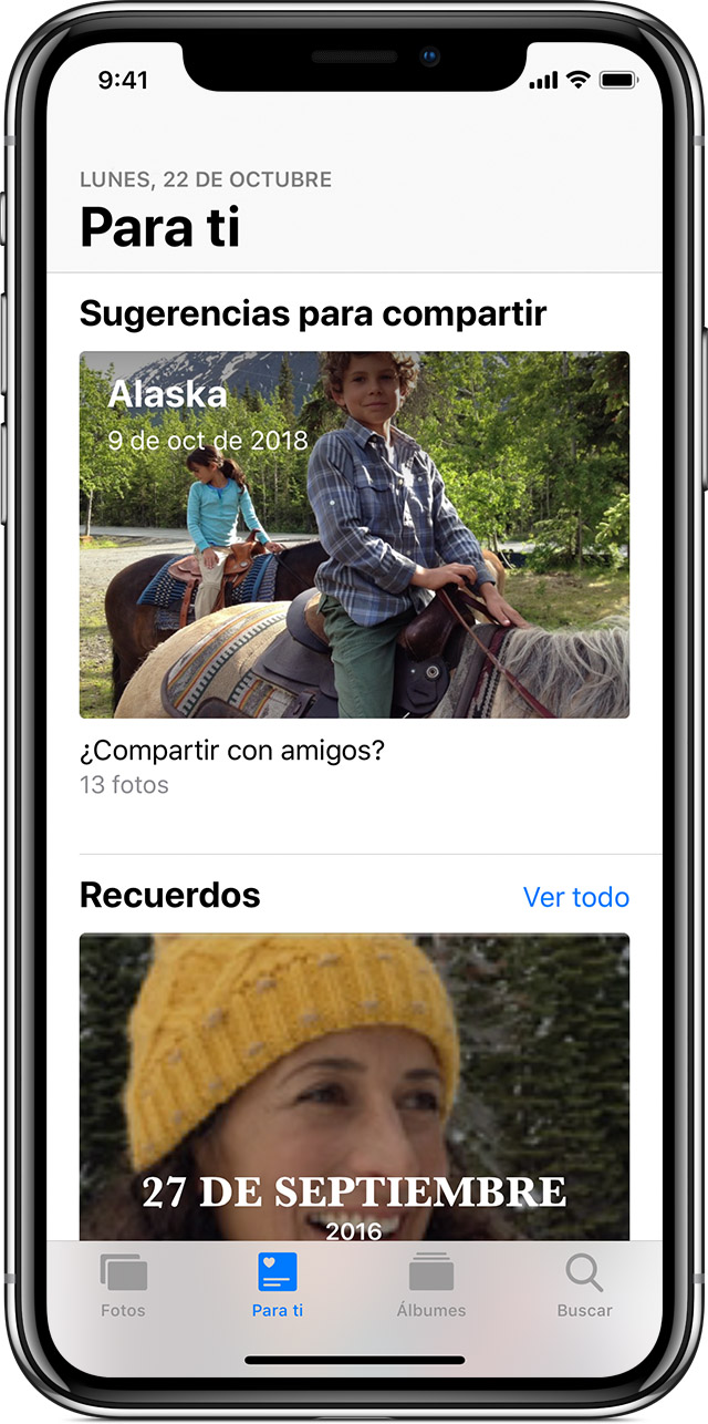 Sugerencias para compartir en iPhone