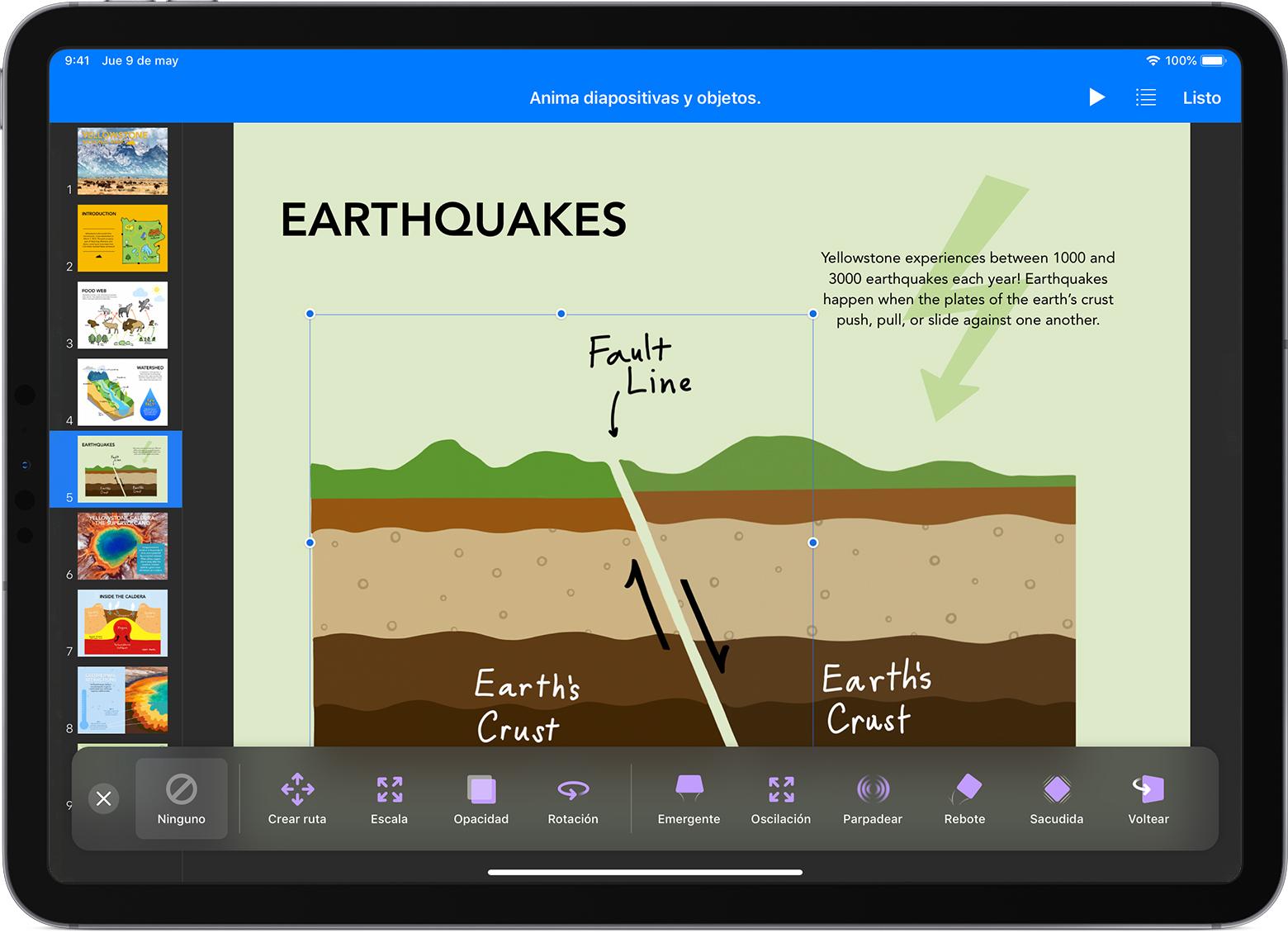 Animar objetos en Keynote con el iPhone, el iPad, el iPod touch y ...