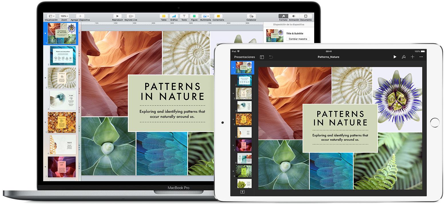 Configurar tu presentación en Keynote - Soporte técnico de Apple