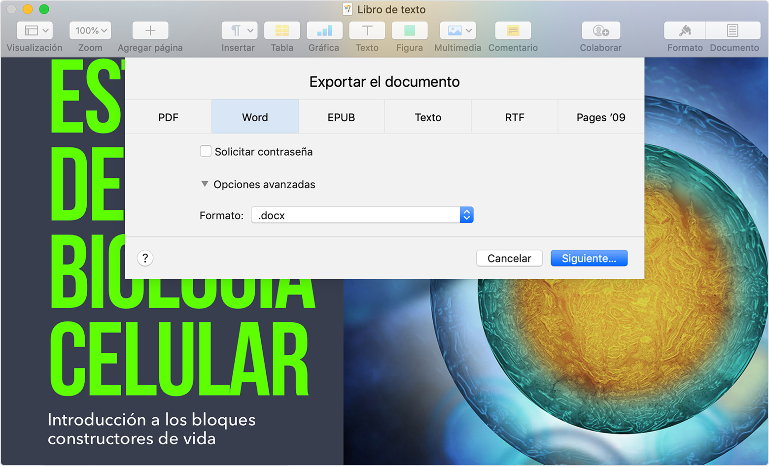 como pasar un documento de pdf a word en mac