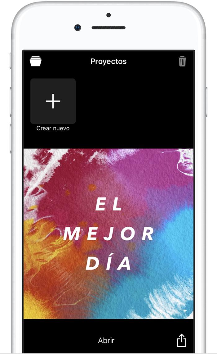 Crear y compartir un video con Clips en el iPhone, iPad o iPod ...