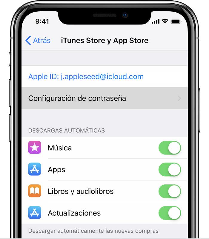 Administrar las preferencias de contraseña de iTunes Store y