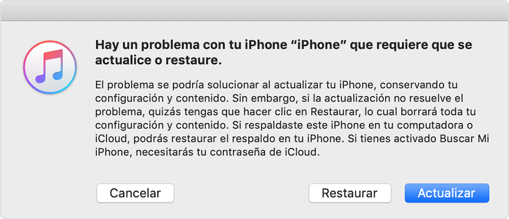 Restaurar iPhone sin actualizar iOS