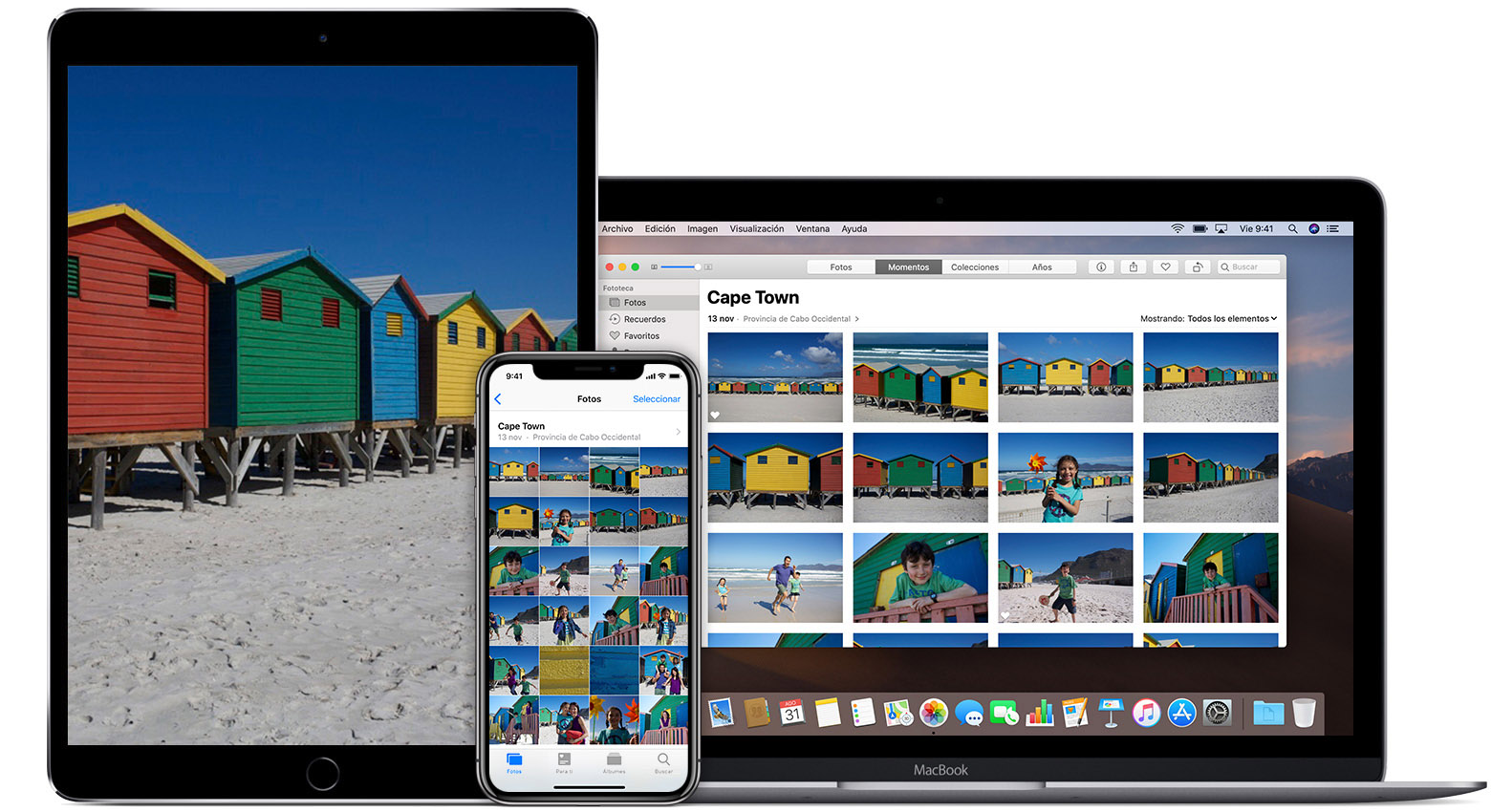la app Fotos en el iPad, el iPhone y la Mac