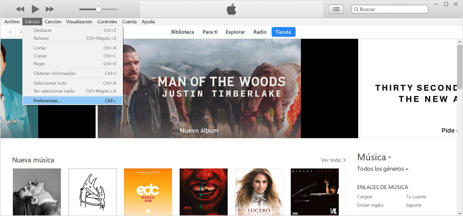Activar la biblioteca musical de iCloud - Soporte técnico de Apple