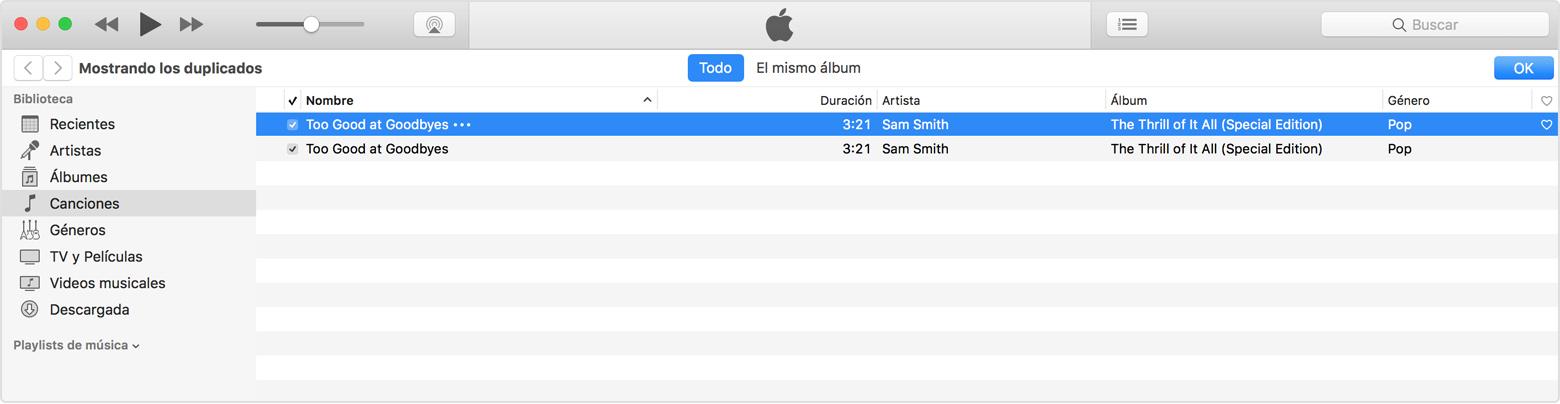 Buscar y eliminar elementos duplicados en tu biblioteca de iTunes ...