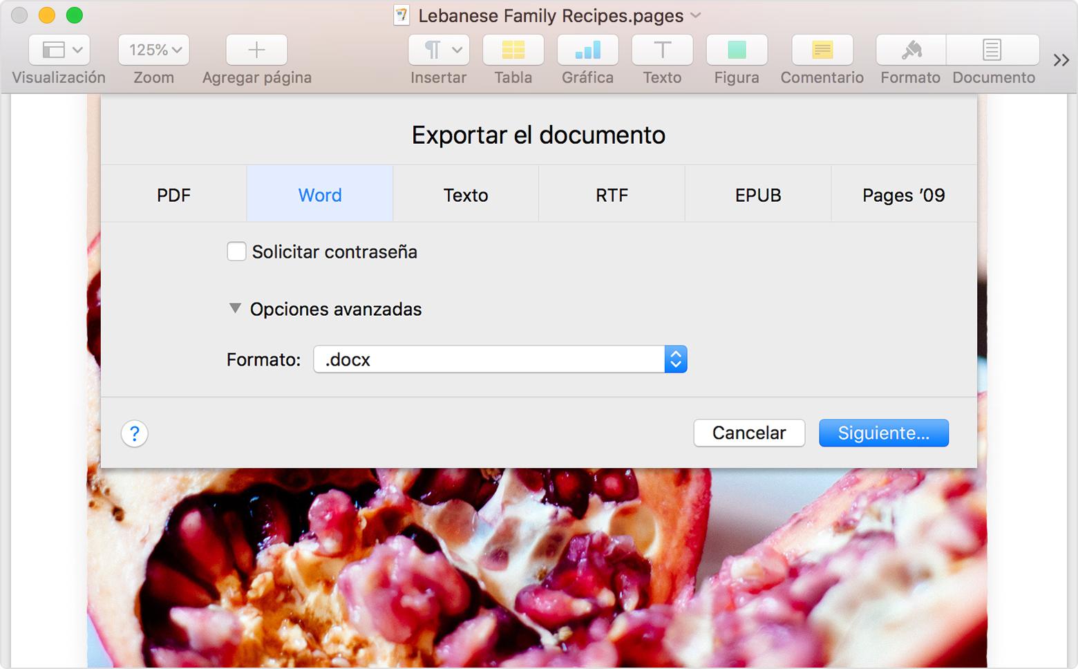 Convertir documentos de Pages a PDF, Microsoft Word y más - Soporte ...