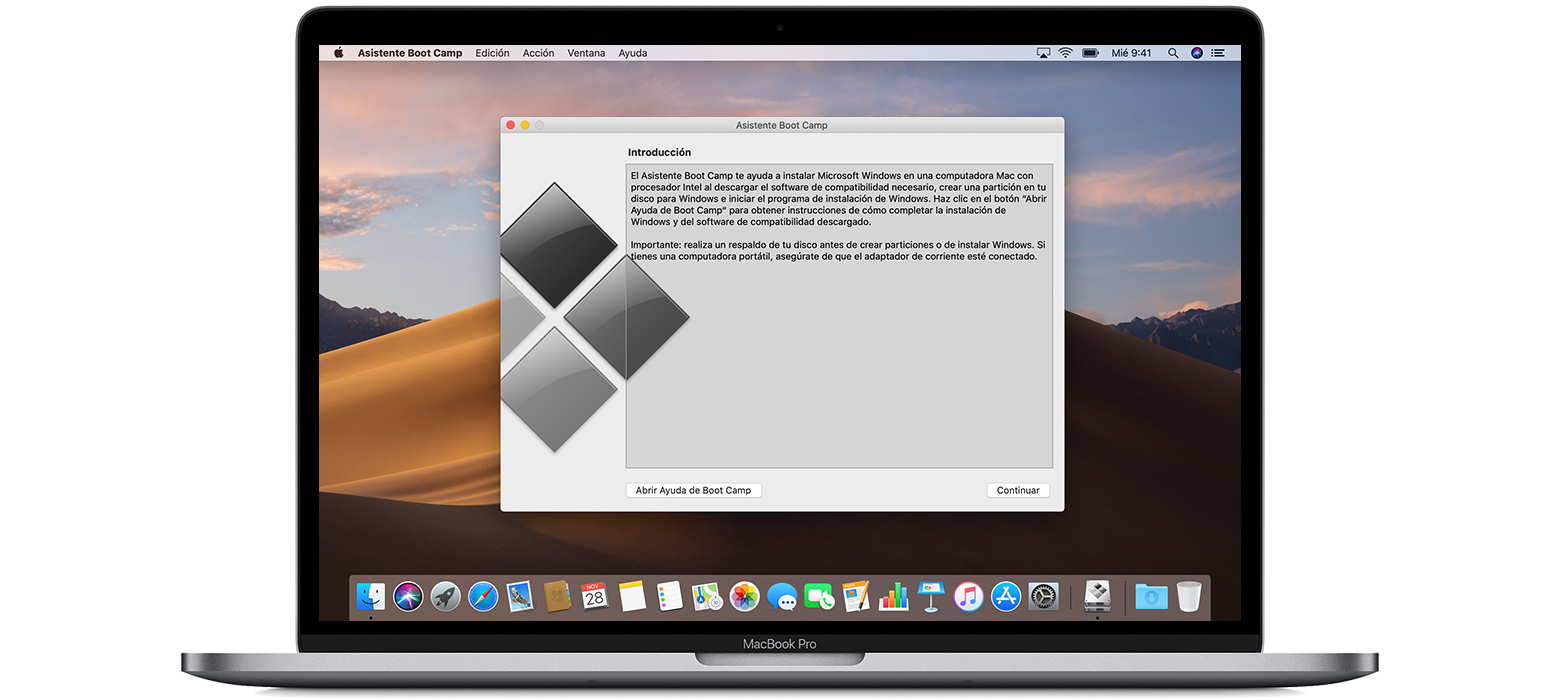 5446d8411d9 Instalar Windows 10 en la Mac con el Asistente Boot Camp - Soporte ...