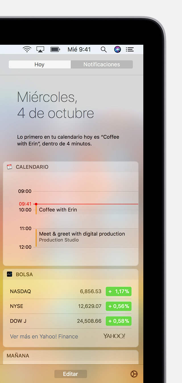Centro de notificaciones