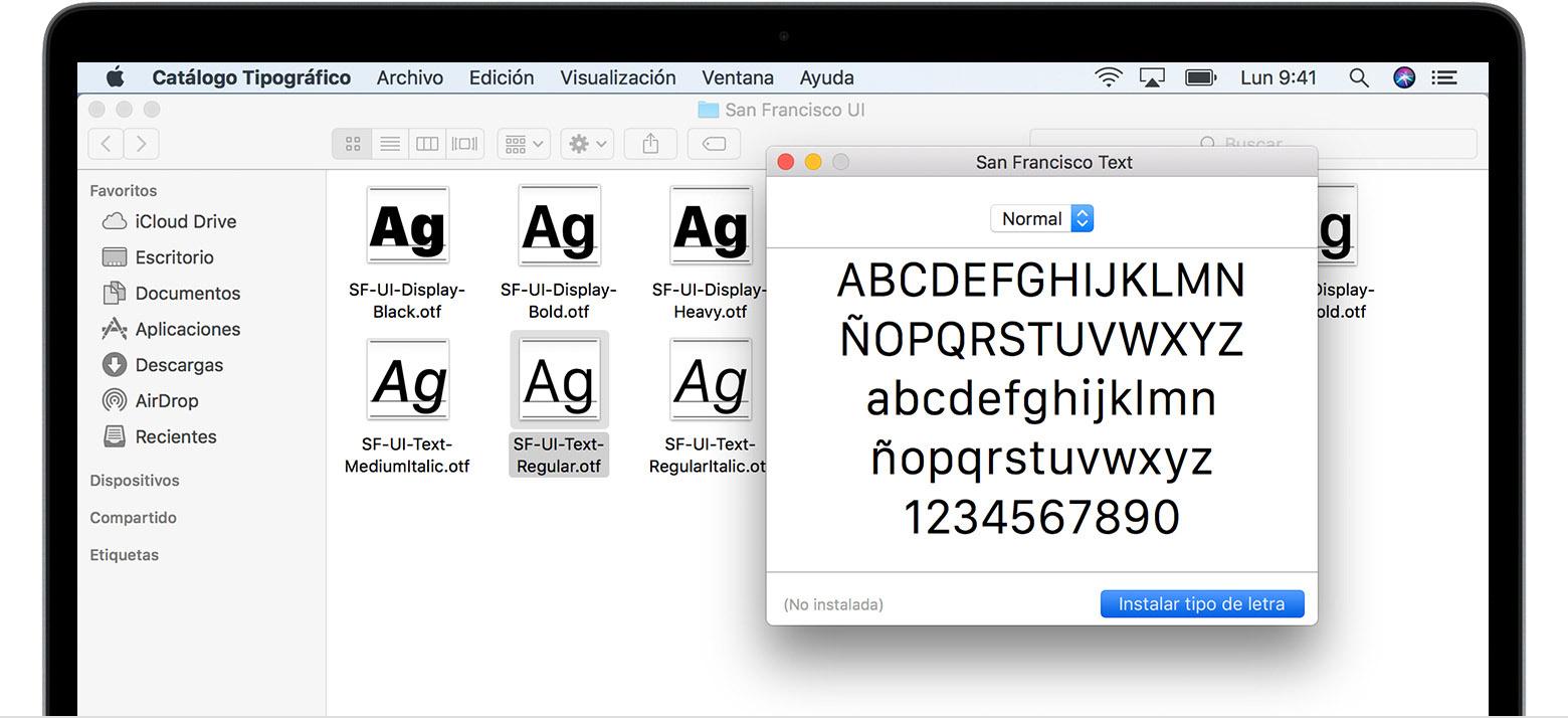 Cómo Instalar Y Eliminar Tipos De Letra En Una Mac Soporte Técnico De Apple
