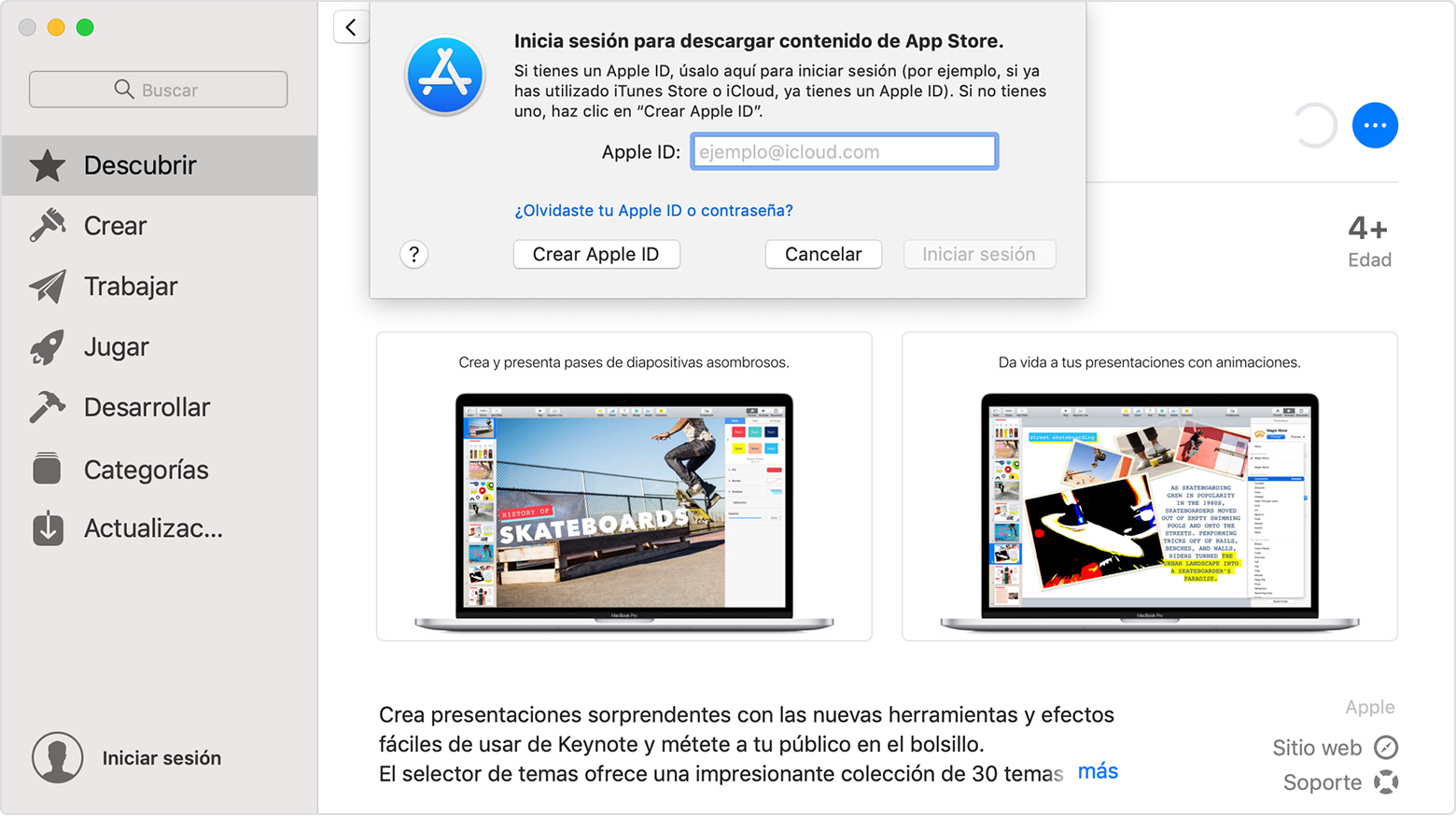 descargar apple store para pc