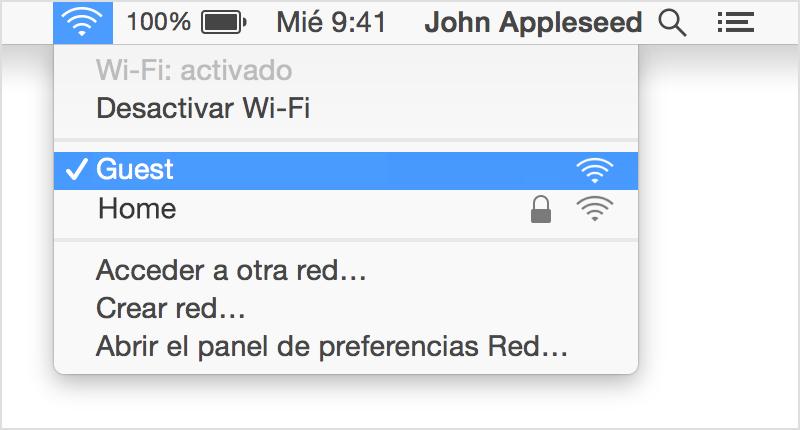 Cómo Administrar La Conexión Wi Fi En La Mac Soporte Técnico De Apple
