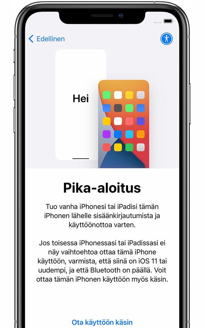 Uuden Iphonen Käyttöönotto