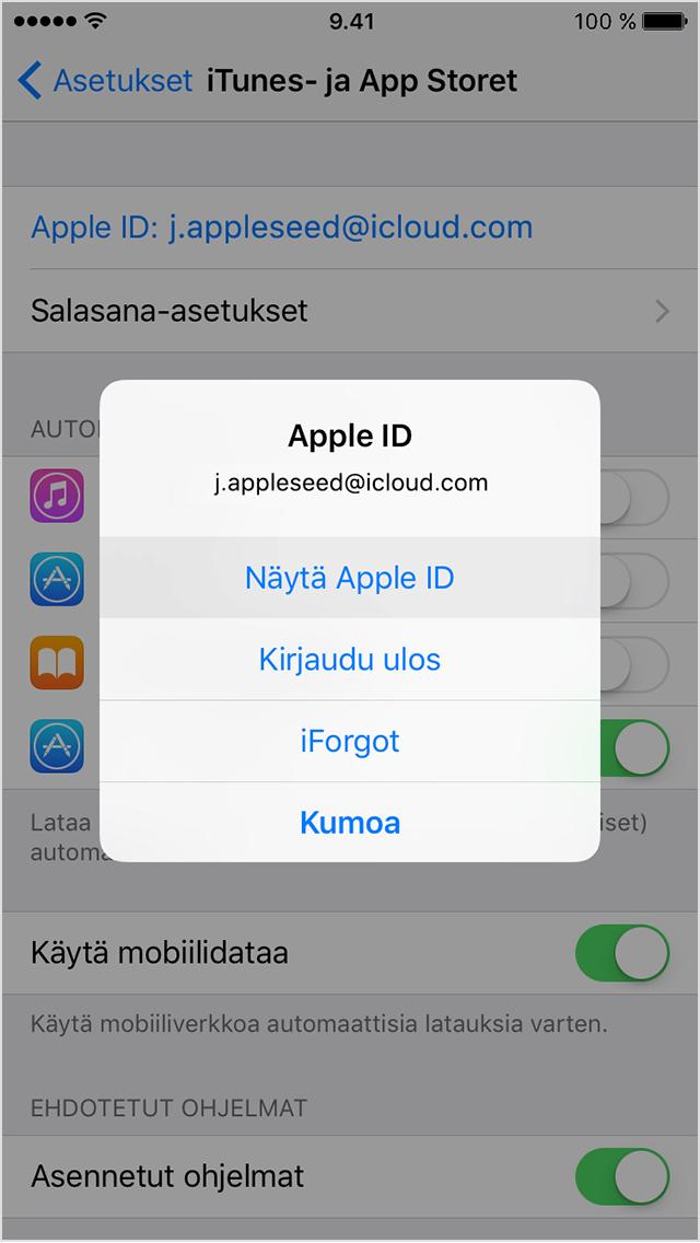 Ipad app store ei päivitä