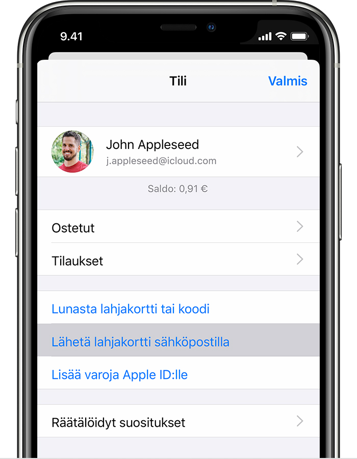 App Store Lahjakortti