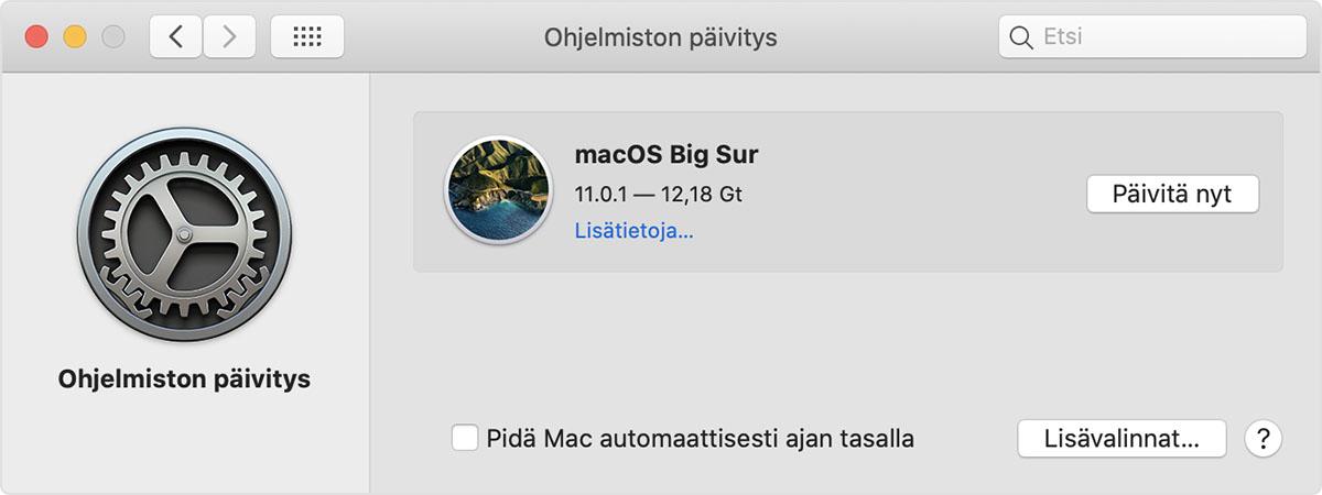 Macin Ohjelmiston Paivittaminen Apple Tuki