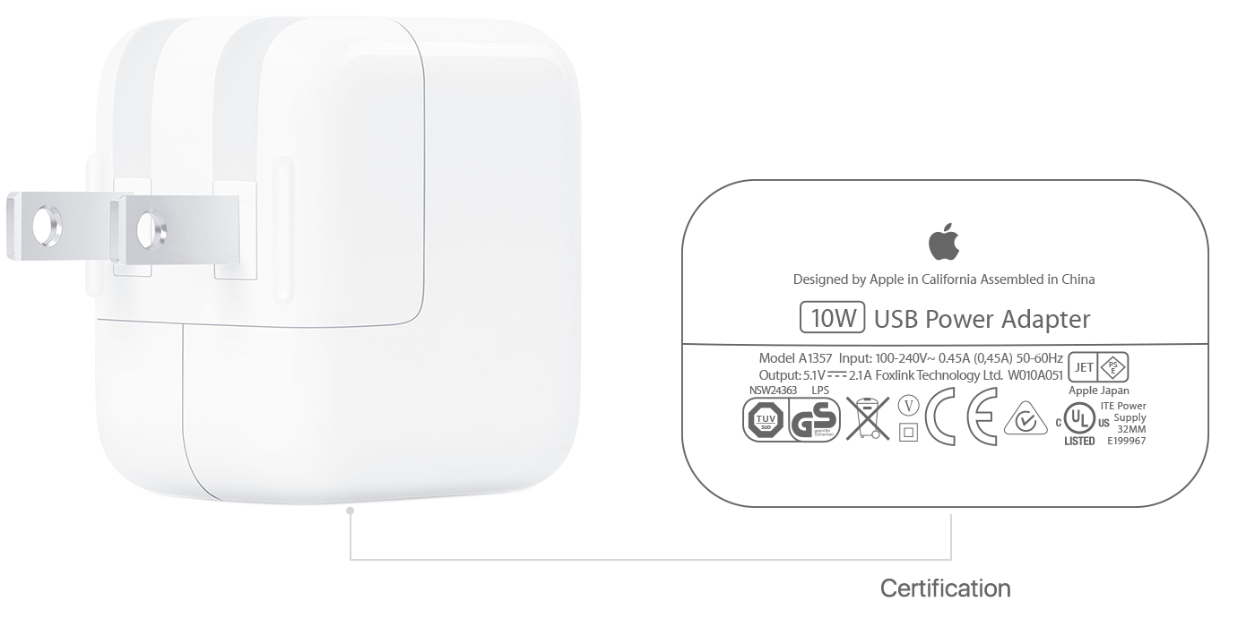 chargeur iphone x specification