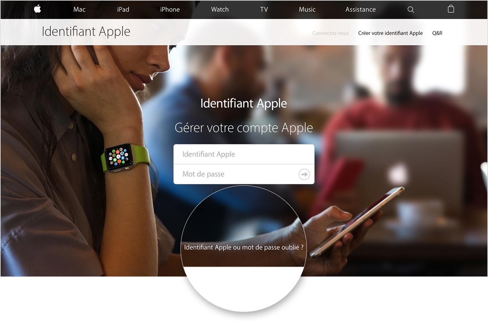 Oubli du mot de passe associé à votre identifiant Apple ...