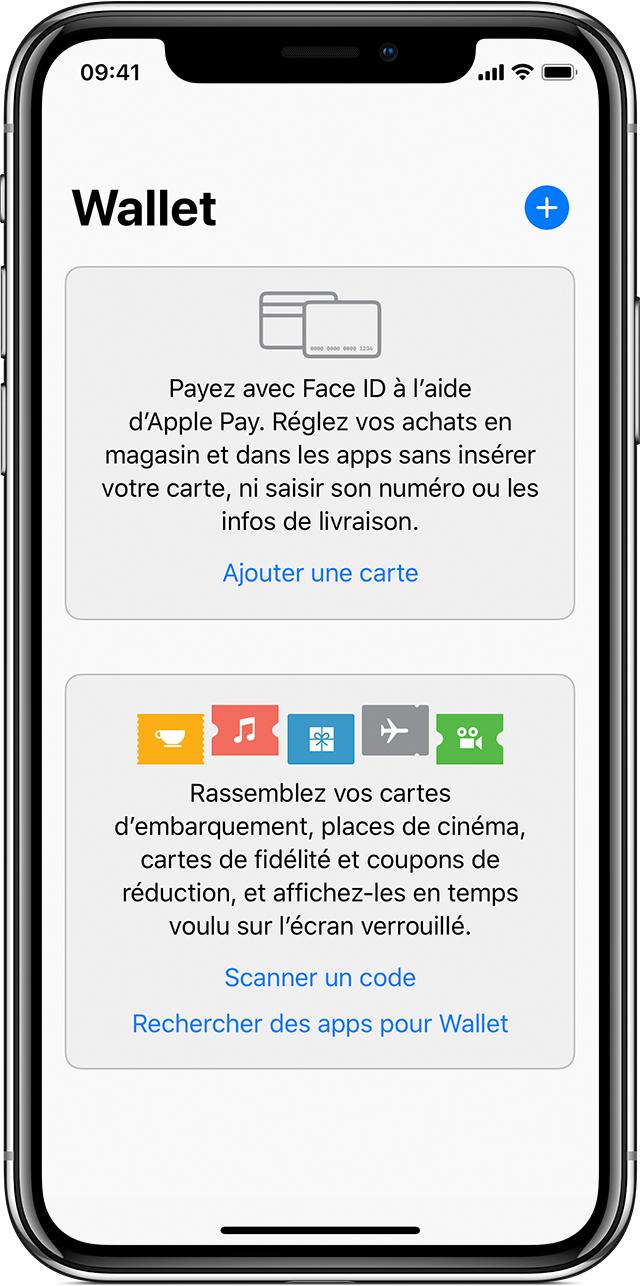App Wallet sur iPhone