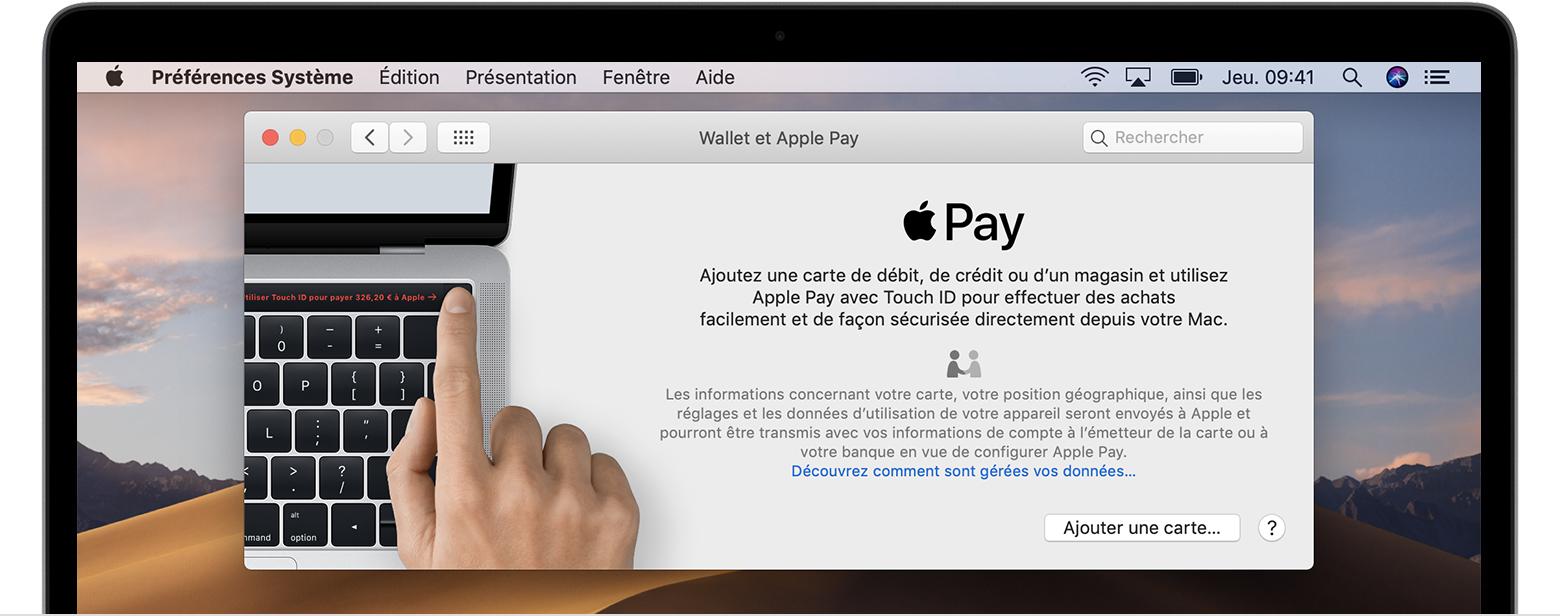 Ajouter une carte à ApplePay sur Mac