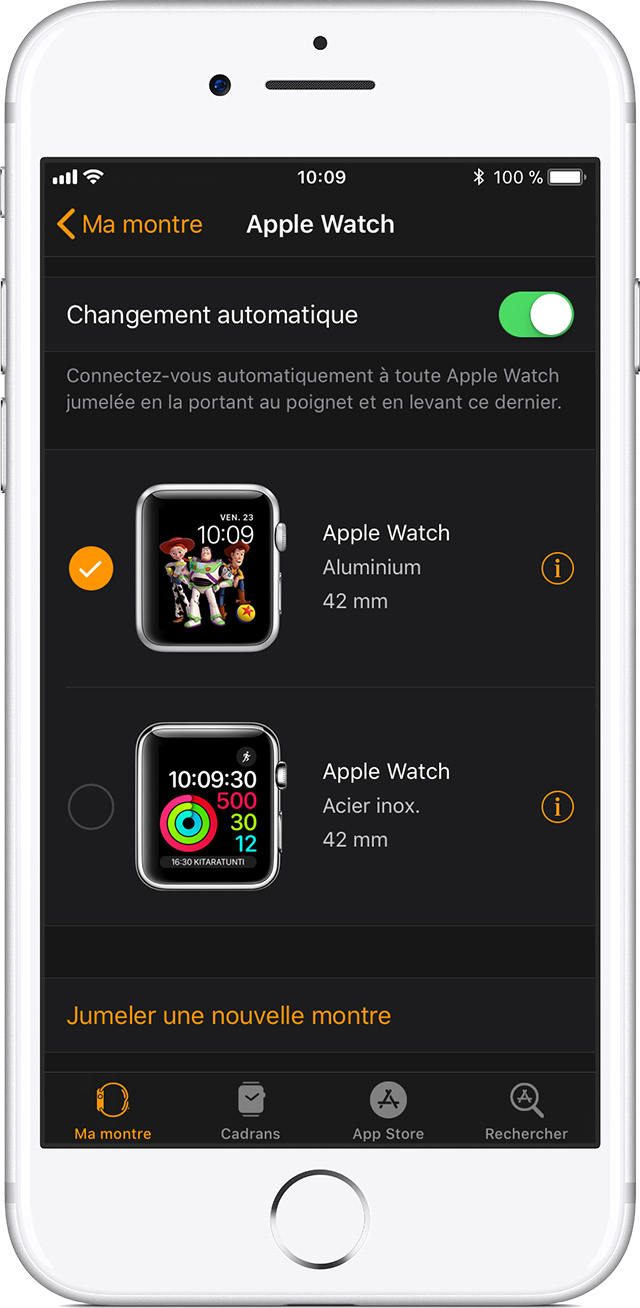 Réglages Apple Watch