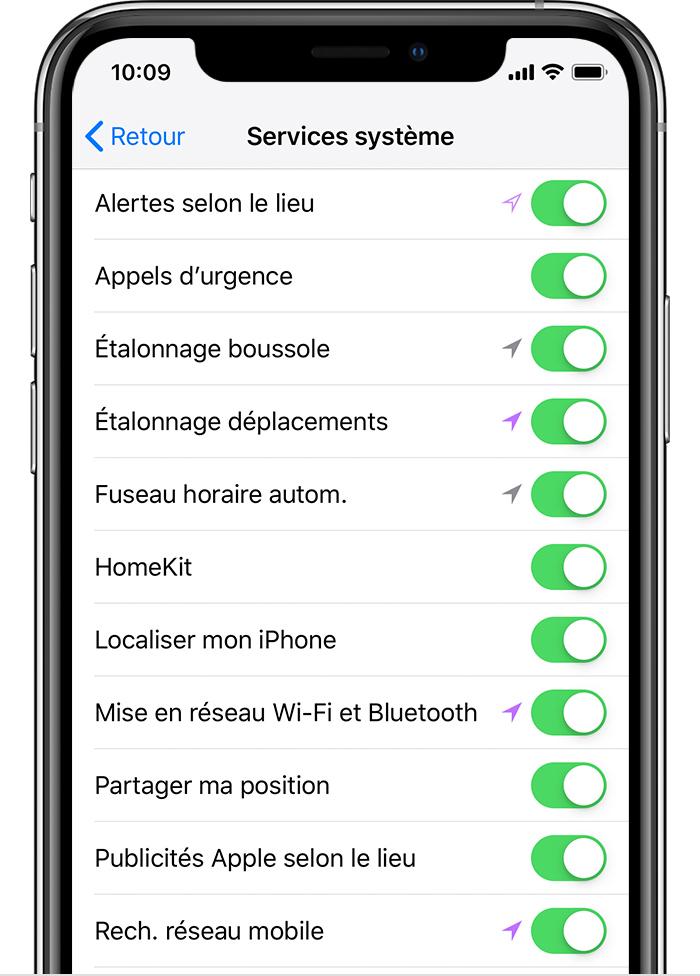 Erreur iPhone