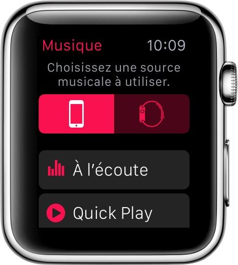 coute de musique via votre apple watch assistance apple. Black Bedroom Furniture Sets. Home Design Ideas
