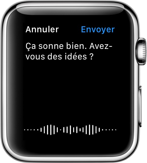Message dicté sur l'Apple Watch