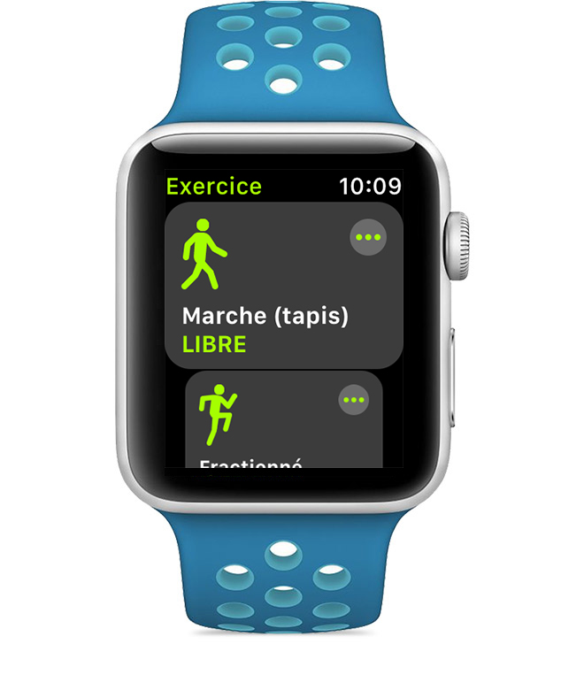 Exercices dans l'app Exercice