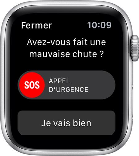 Utiliser la détection des chutes avec l Apple Watch Series 4 ... 9382655249b