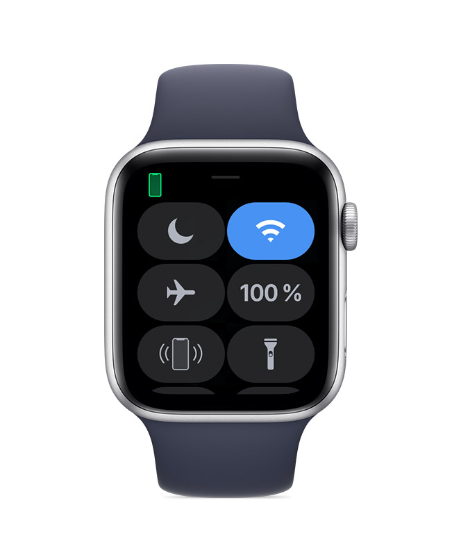 Apple Watch connectée à un iPhone.