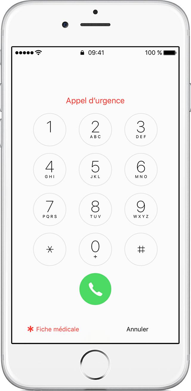 configuration de votre fiche m dicale dans l app sant sur votre iphone assistance apple. Black Bedroom Furniture Sets. Home Design Ideas