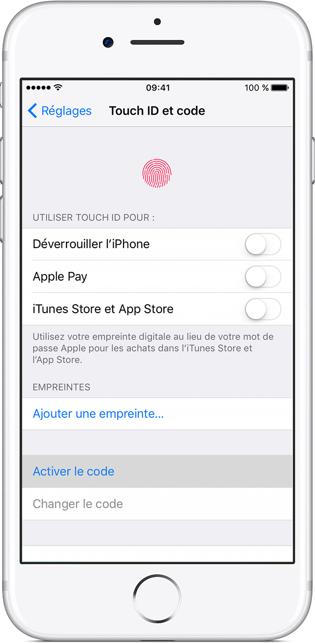 Changer Code Acces Iphone