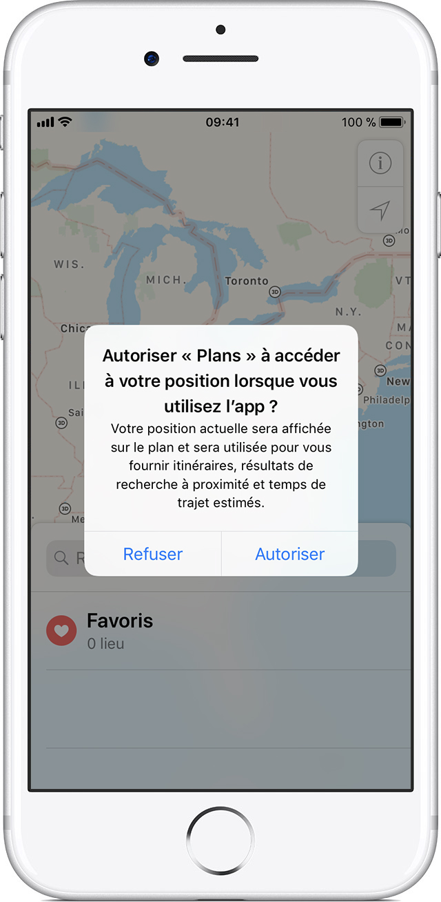 geolocalisation iphone 7 Plus