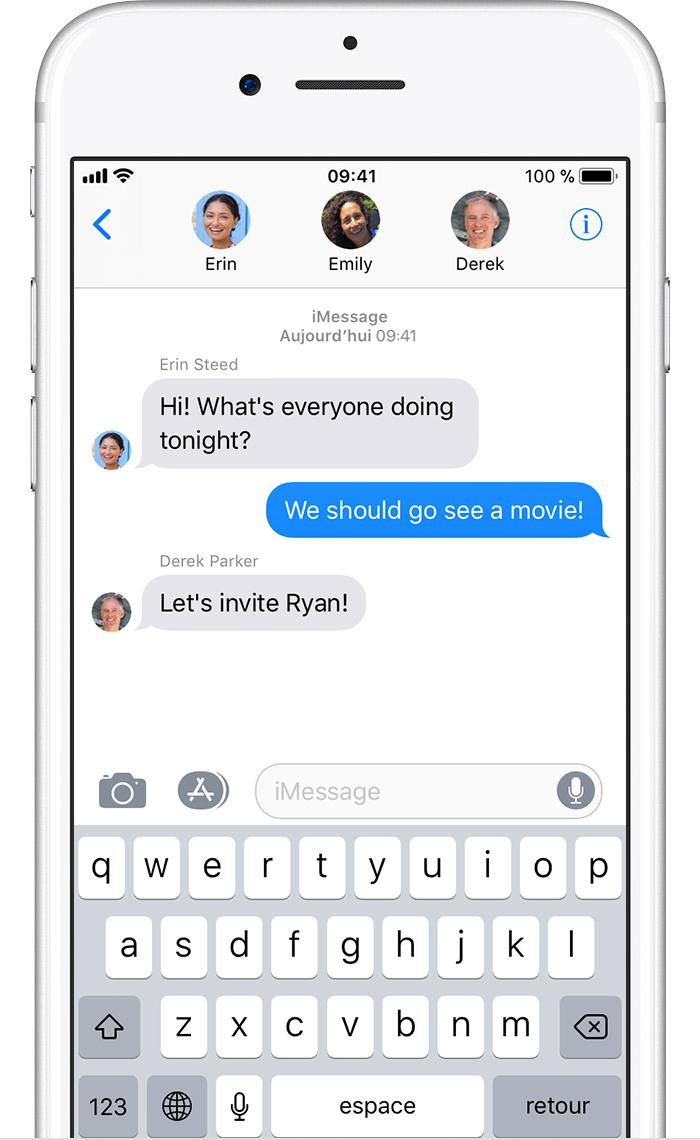 envoi d un message collectif sur votre iphone ipad ou ipod touch assistance apple. Black Bedroom Furniture Sets. Home Design Ideas