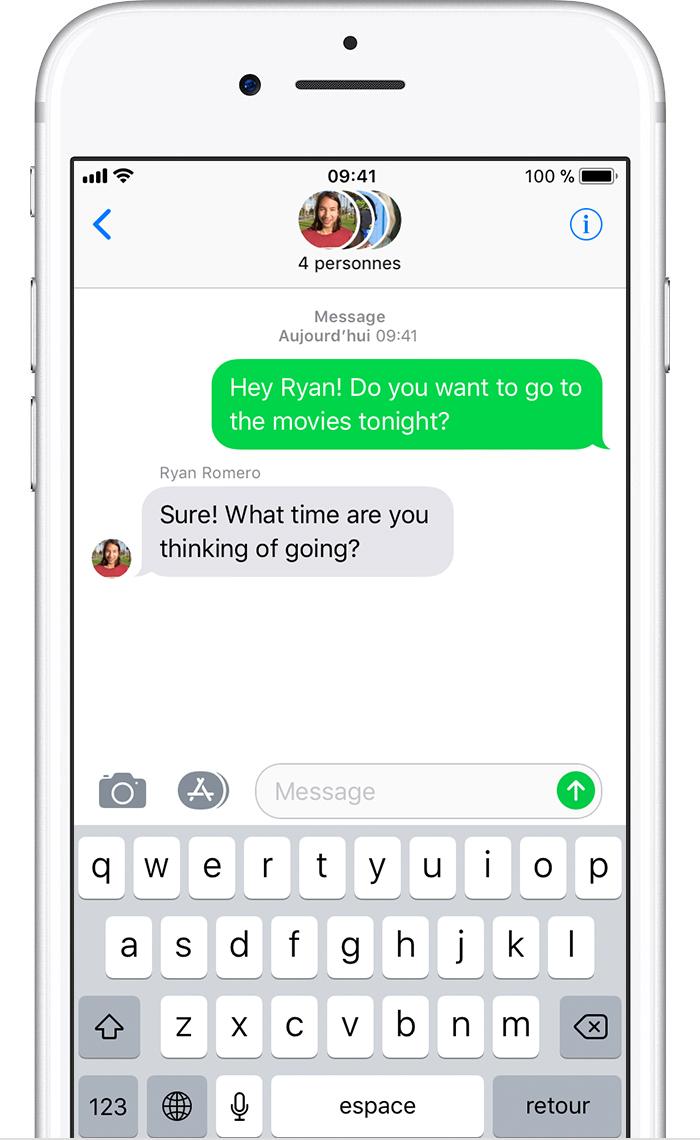 Envoi d un message collectif sur votre iphone ipad ou - Recevoir les sms d un autre portable ...