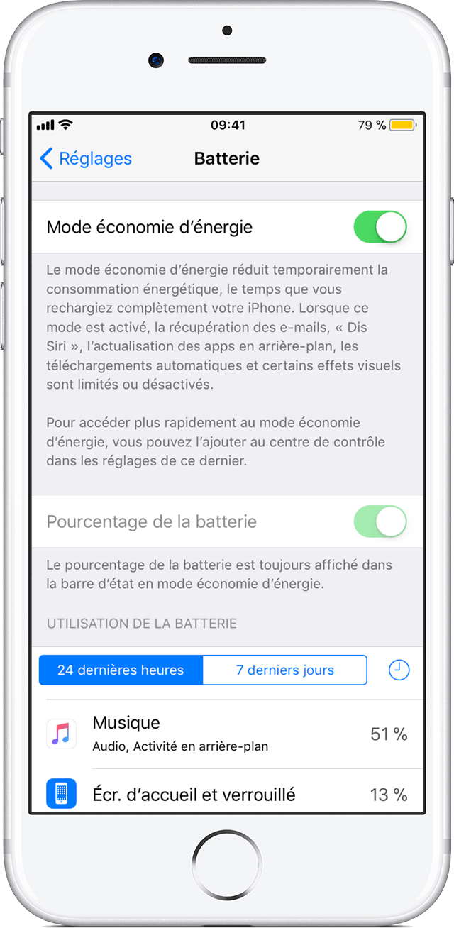 activer le mode conomie d nergie pour pr server l autonomie de la batterie de votre iphone. Black Bedroom Furniture Sets. Home Design Ideas