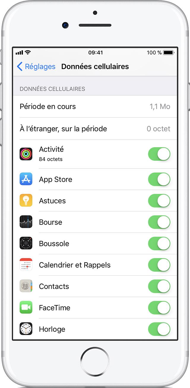 A Propos Des Options Liees A L Itinerance Des Donnees Sur Votre Iphone Et Ipad Assistance Apple