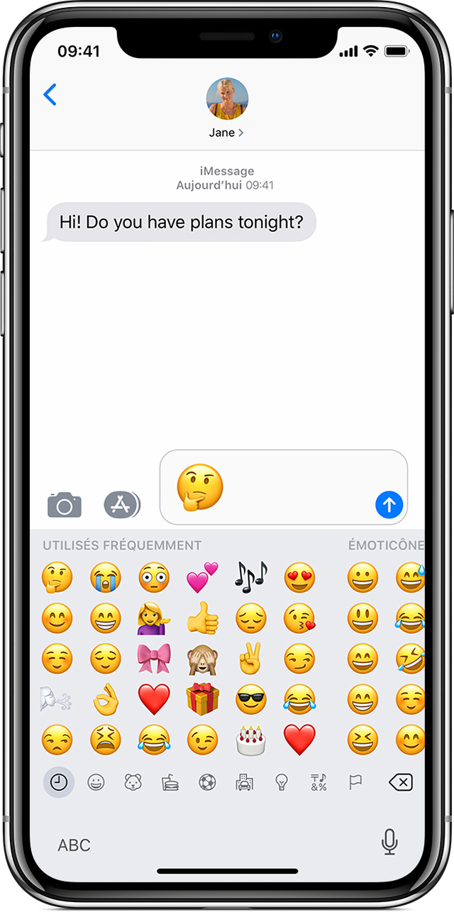 Utilisation de caract res emoji sur votre iphone ipad ou ipod touch assistance apple - Smiley bisous iphone ...
