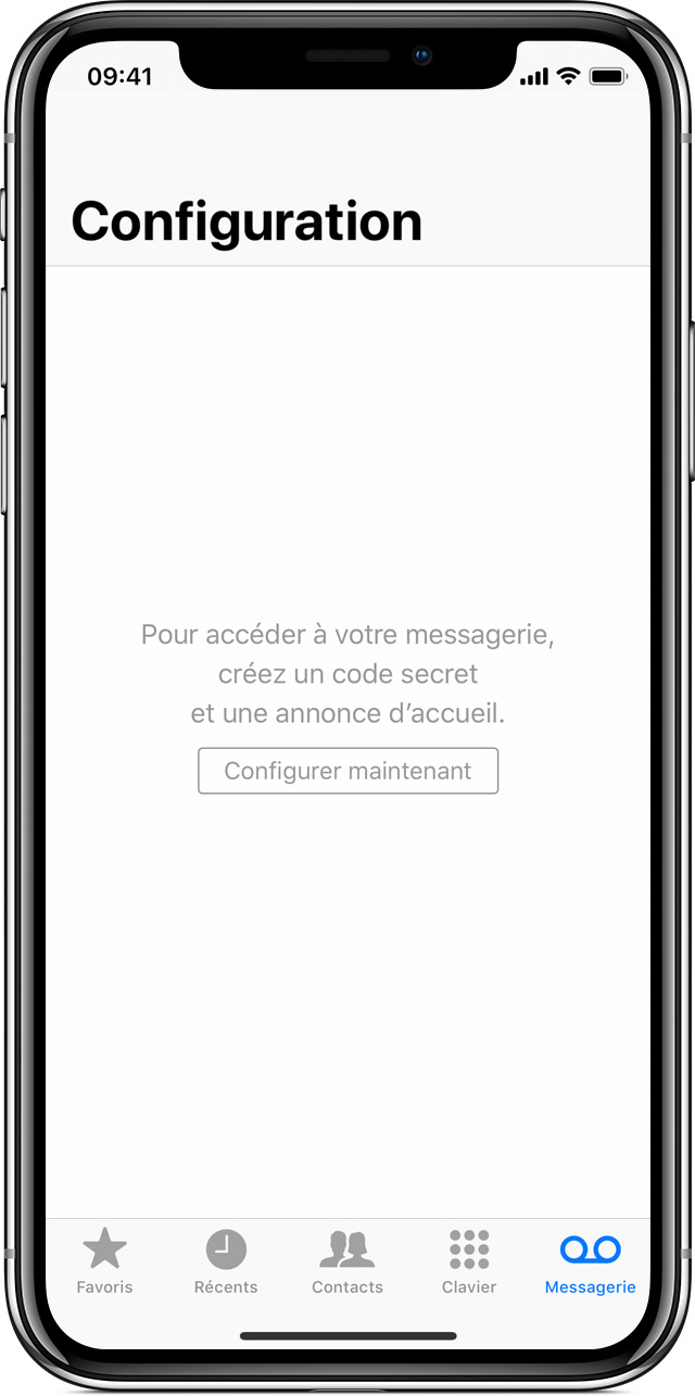 activer messagerie iphone