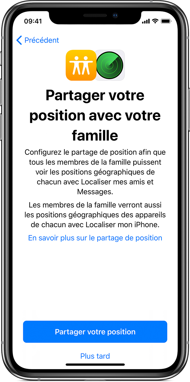 localiser iphone famille