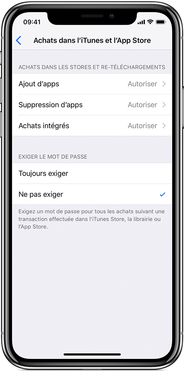 comment enlever controle parental iphone