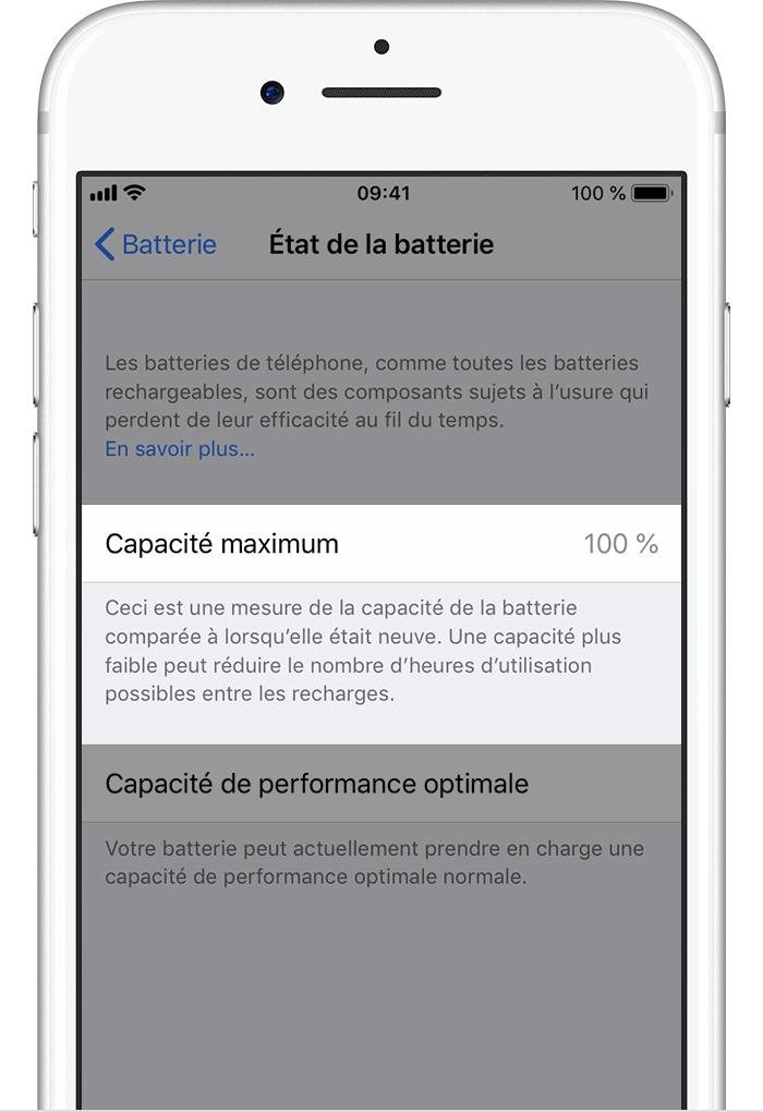 2c78d64b6cccd7 Batterie et performances de l iPhone - Assistance Apple