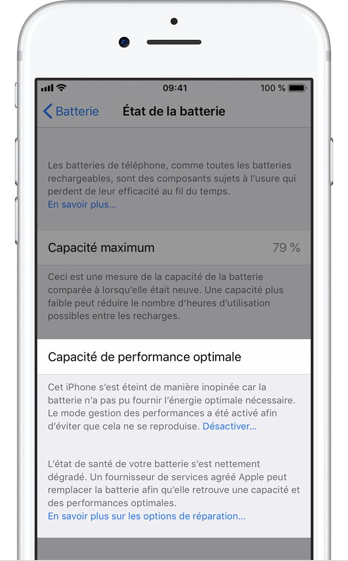 942344e6757f Batterie et performances de l iPhone - Assistance Apple