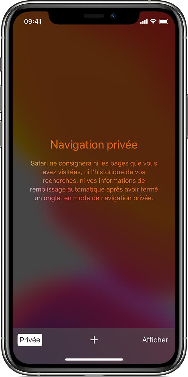 Activer ou désactiver le mode Navigation privée sur votre iPhone ou iPod  touch - Assistance Apple