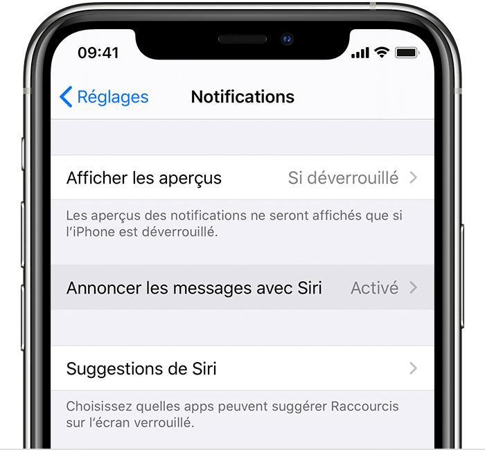 Annoncer les messages via les AirPods avec Siri Assistance