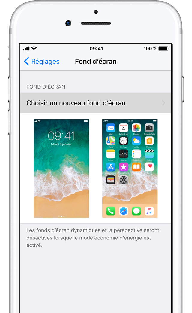 Modification du fond d cran de votre iphone assistance for Fond ecran classe iphone