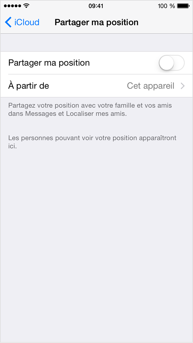 Partager ma position